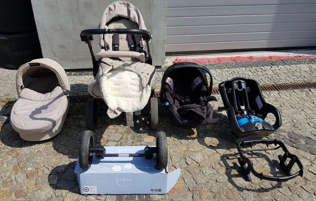Wózek firmy Teutonia BE YOU 3w1 Gondola Spacerówka Fotelik samochodowy