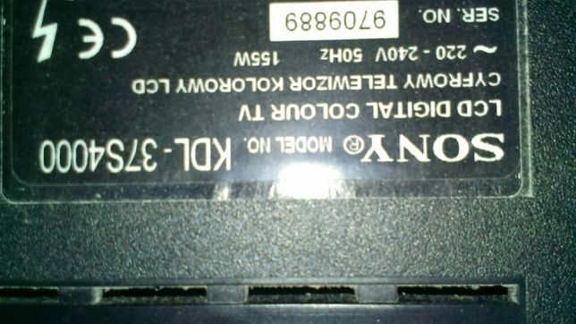 Запчасти телевизор sony kdl-37s4000