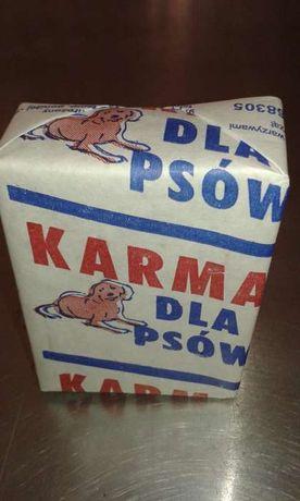 Mięso wołowe mrożone kostka 250g karma dla psa