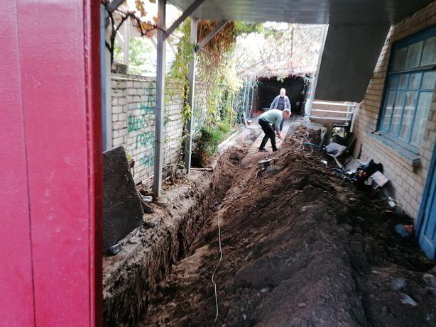 Замена наружного водопровода и канализации