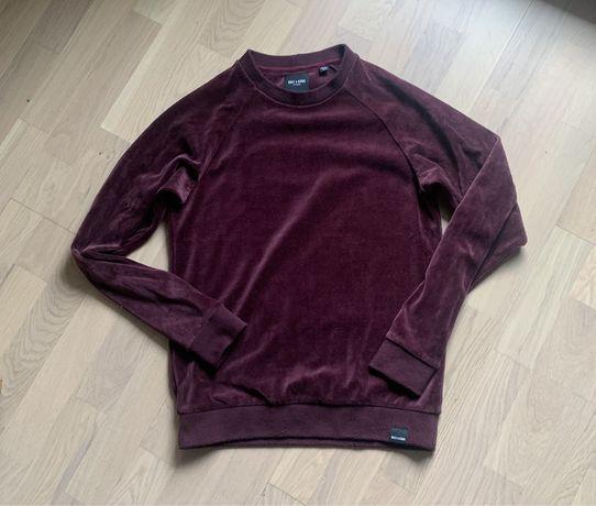 Welurowa bordowa bluza Only&Sons XS Uniseks