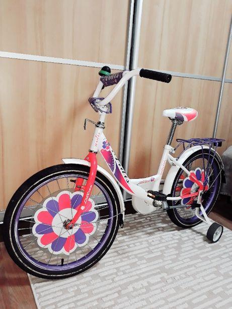 Велосипед детский для девочки колеса 20 дюймов Ardis белый розовый