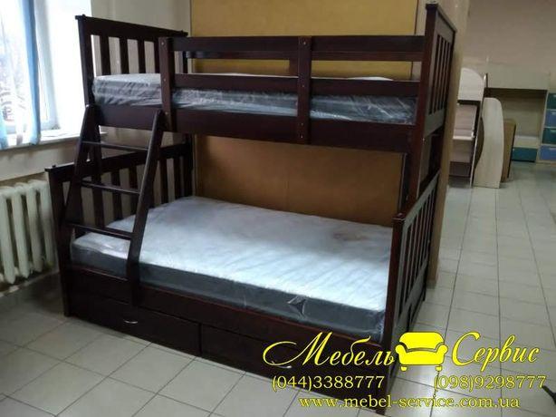Двухъярусная трехспальная кровать Олигарх Эко