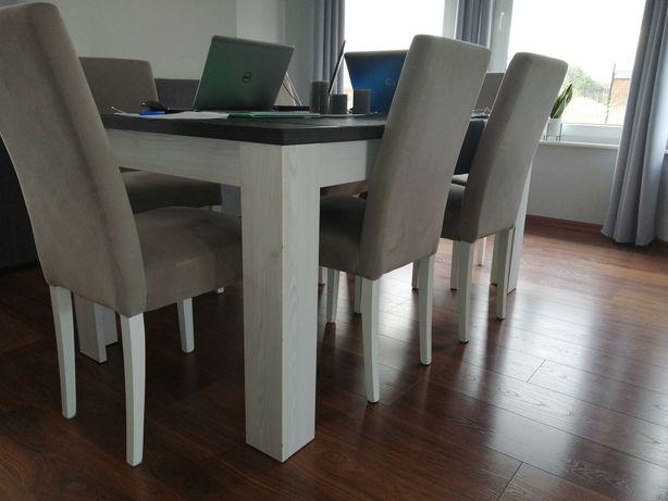 Sprzedam zestaw stół z krzesłami Holten zakupiony w Black Red White