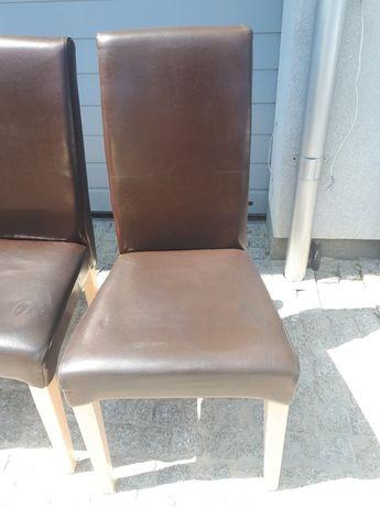 Krzesło skórzane - polskie