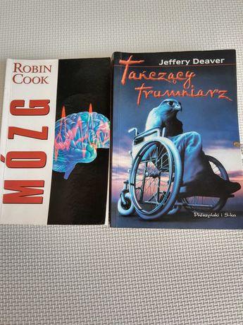 """Książki """" Mózg"""" Robin Cook i """"Tańczący trumniarz"""" Jeffrey Deaver"""