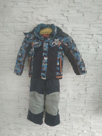 Spodnie narciarskie+kurtka 110-116