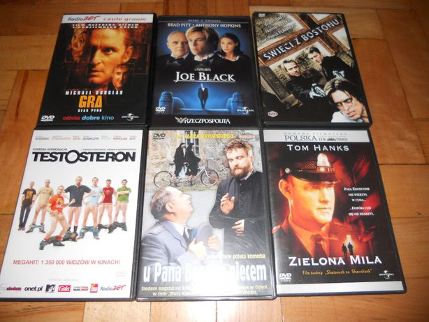 Filmy DVD Ekstradycja, Testosteron, Joe Black, Gra, 4 pancerni i inne