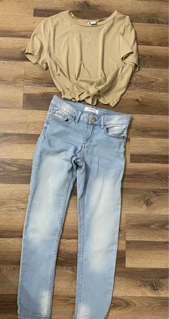 Jeansy slim LINDEX 9 10 lat dżinsy spodnie dla dziewczynki jak XS