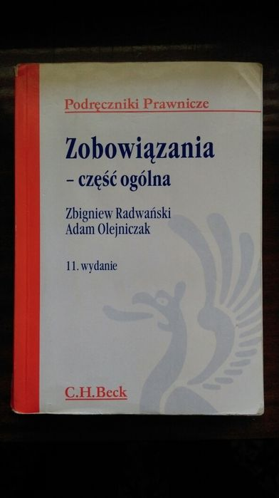 Zobowiązania - cześć ogólna Radwański
