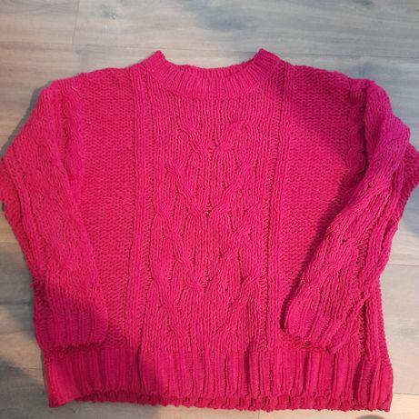 Sweter miękki oversize s Reserved fuksja