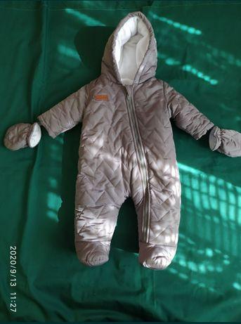 Детский теплый зимний комбинезон, одежда для детей, комбез