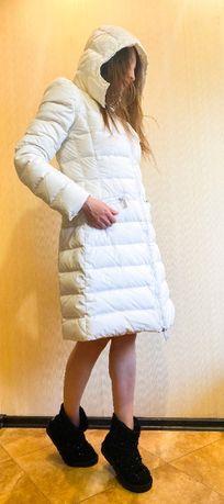 Куртка, Белая куртка, Натуральный пуховик, Пуховик белый,
