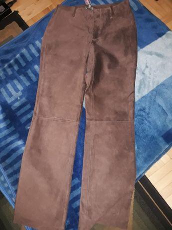 Skórzane spodnie Marks&Spencer rozm.10 nowe