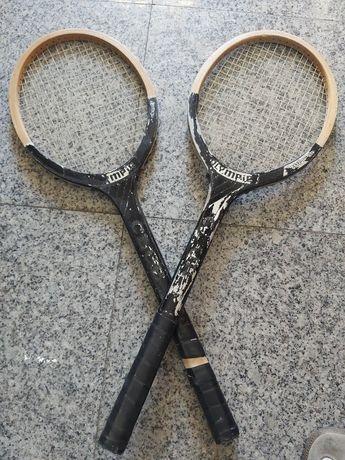 "Raquetes madeira ""vintage"""