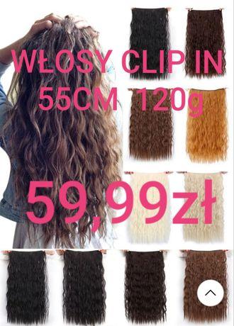Włosy Clip in 57cm 140g
