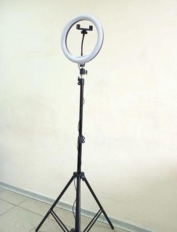 Штатив на 2,1м +лампа ргб селфи д.26см Комплект для блогера