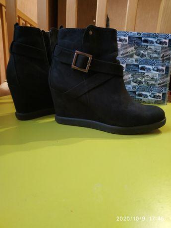 Ботинки замш  евро-зима 37р