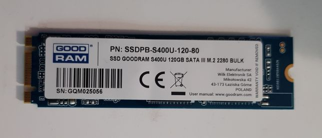 Dysk GoodRam SSD M2 120GB