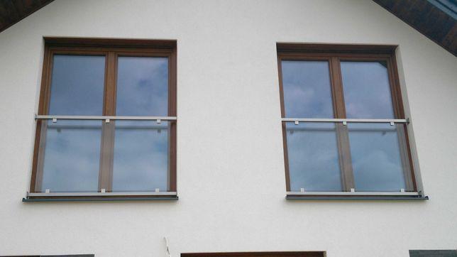 Balustrada nierdzewna okienna , portfenetr balkon francuski z montażem
