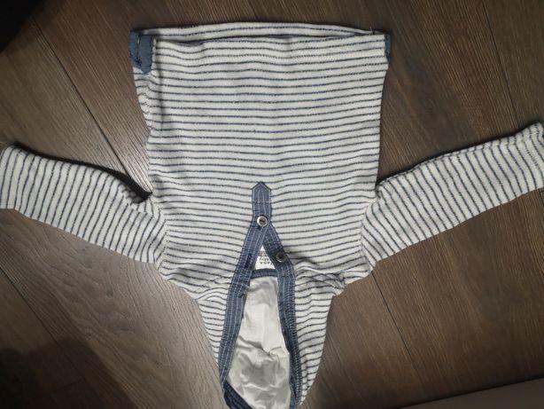 Sweterek bluza z kapturem zara chłopiec 68
