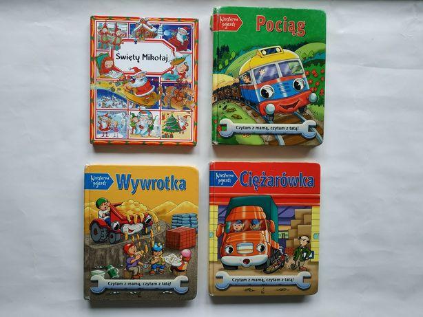 Bajki Książeczki dla dzieci Pociąg Wywrotka Ciężarówka Święty Mikołaj