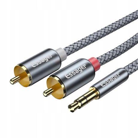 Kabel Hq Mini Jack 2X Rca Cinch Stereo Gold Hd 3M