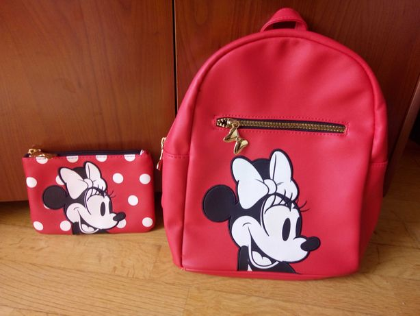 Conjunto Mochila e bolsa Minnie Disney