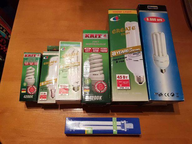 Энерго-сберегающие лампы (экономки) Е 14 , Е 27, LED люминесцентные
