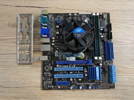 Комплект Asus P7H55-M LE + intel i3-540 + 4gb DDR3
