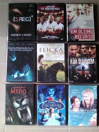 Vendo este lote de dvd's impecáveis