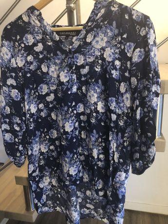 Niebieska koszula w kwiaty Top Secret rozm 36