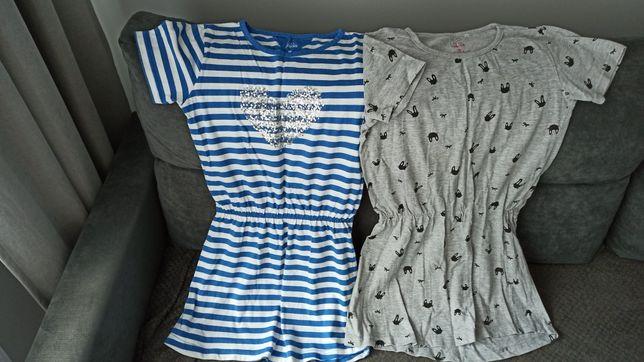 Sukienki,spódniczka i koszula 140- 5 sztuk