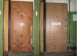 Оббивка, утепление, реставрация и усиление дверей. врезка замков.