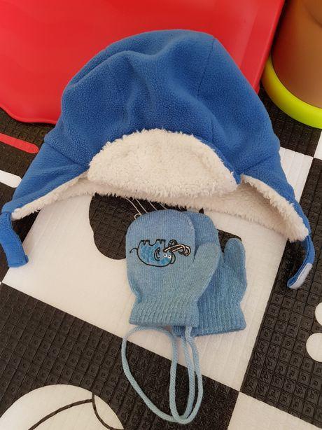 Czapka zimowa, rękawiczki
