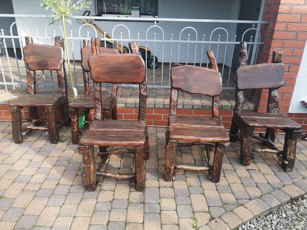 Krzesła ogrodowe drewniane 5szt