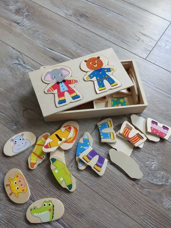 Drewniane pudełko do tworzenia ubrań