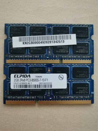 Pamięć RAM DDR3  4gb(2x2gb)sodimm do laptopa