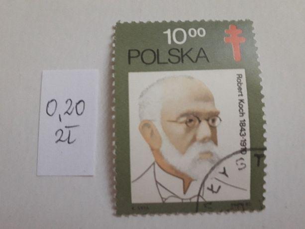 36. znaczki pocztowe kasowane polskie 8 szt.