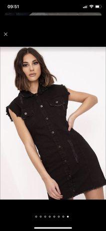 Стильное джинсовое платье размер S-M