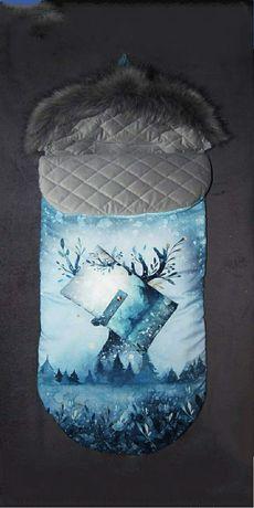 Zimowy śpiworek do wózka