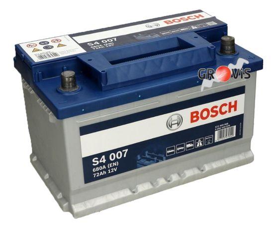 NOWY Akumulator BOSCH S4 12V 72Ah680A P+ S4-007 niski obniżany Dostawa