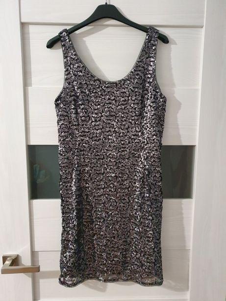 Sukienki bal wesele mini czarna sylwestrowa rozmiar 36 M S
