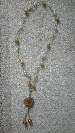 Korale w odcieniach złota dł. 80 cm
