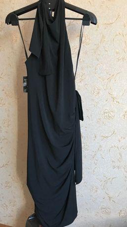 Дизайнерское вечернее чёрное  платье Vera Wang Xs