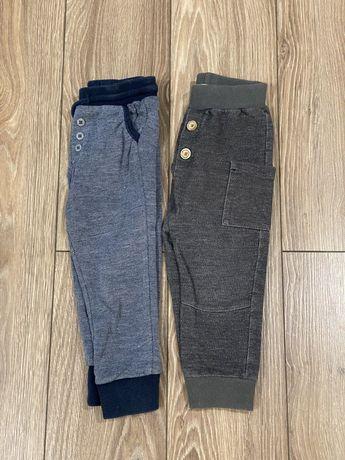 Spodnie eleganckie z guzikami miękkie 2 pary Pinokio Baby r. 92 szare