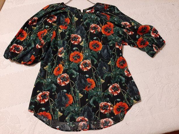 Blusa Papoilas H&M tamanho 42