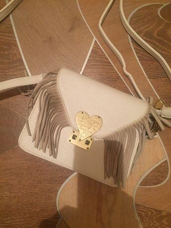 Белая сумка с бахромой Valentino