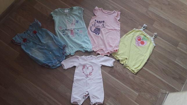 Пакет вещей для девочки 0-9 кофты штанишки платье сарафан шапочки слип
