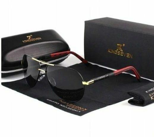 *PROMOCJA Okulary przeciwsłoneczne KingSeven Czarno Złote UV400
